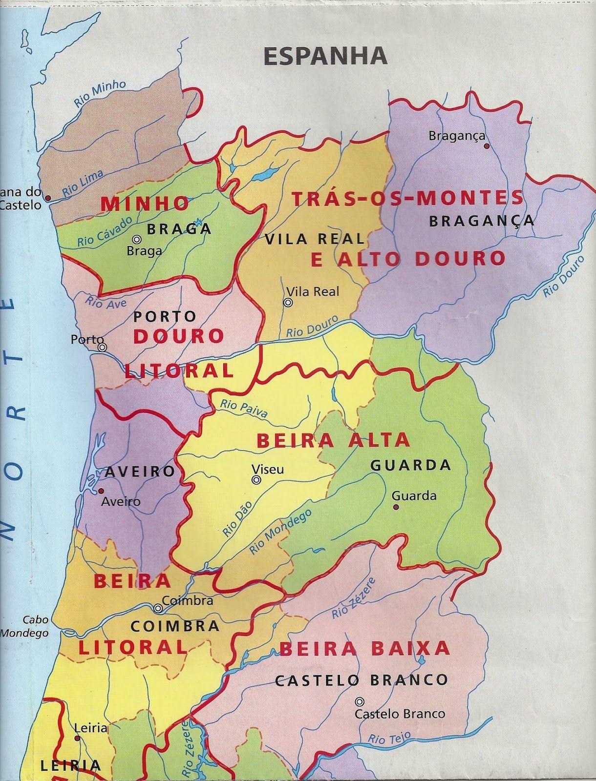 mapa de portugal beira interior Sítio da Educação: Conhecer Portugal, a Beira Interior | Portugal  mapa de portugal beira interior