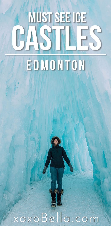 The Ice Castle in Edmonton | Bella Bucchiotti #travelnorthamerica