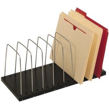 "Lit-Ning 8 Slot Adjustable Desk Organizer 8 slots, 7.75""h x 18 3/8""w x 8 1/8""d ~$25"