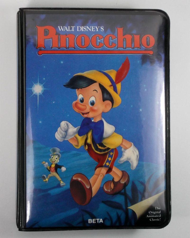 Walt Disney Pinocchio BETA Betamax Tape Video Cassette