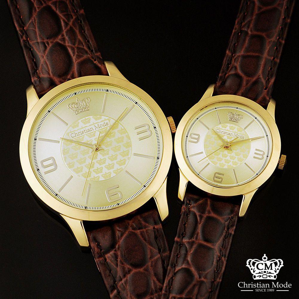 Dress Watch Men Women Unisex Couple Gold Stainless Steel