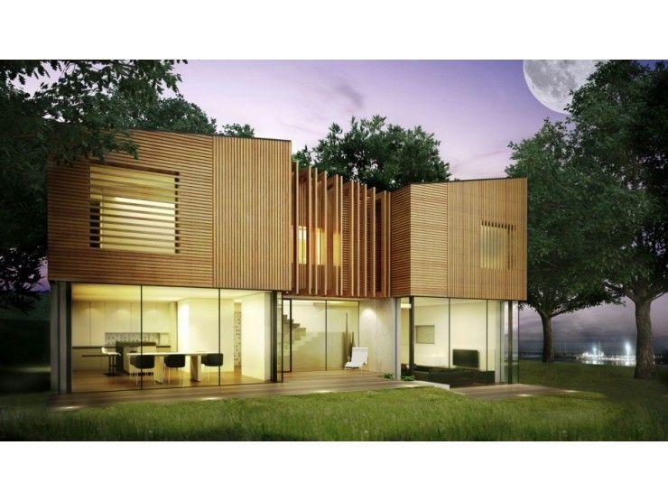 Einfamilienhaus modern pultdach  Pure DD - #Einfamilienhaus von BlackLine | HausXXL #Fertighaus ...