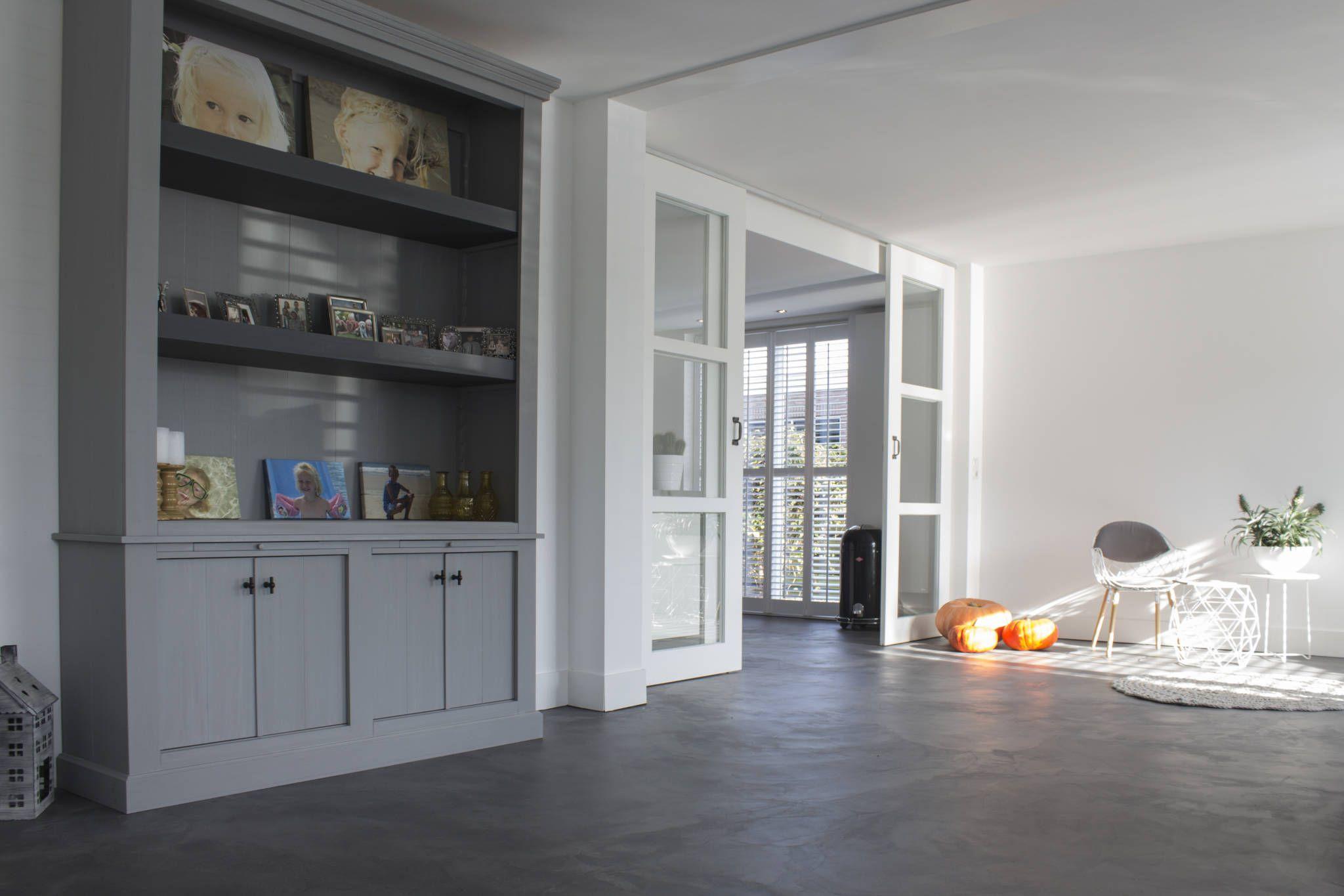 Exclusieve Gietvloer Woonkamer : Woonbeton u cementgebonden gietvloer woonkamer door motion