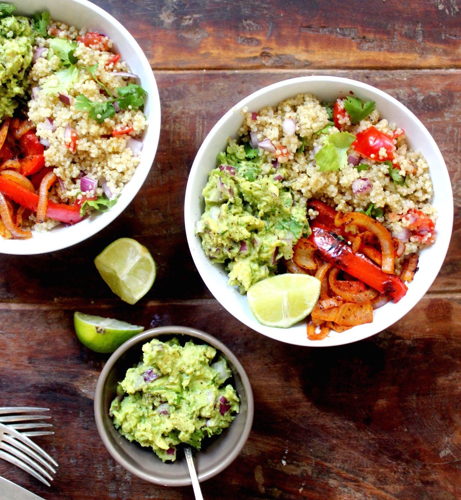 Vegan Mexican Quinoa Bowl The Little Green Spoon Vegan
