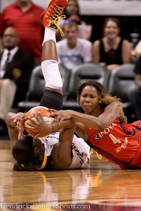 Karima Christmas of the Indiana Fever and Taylar Hill of the ...
