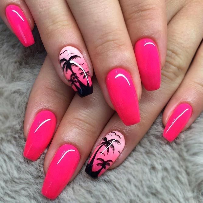 50 Cool Tropical Nails Designs For Summer Pinterest Nagel