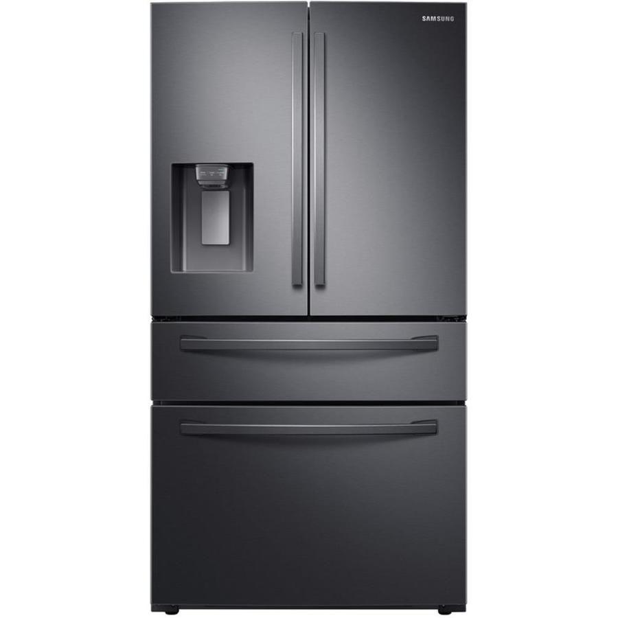 Samsung 28 Cu Ft 4 Door French Door Refrigerator With Ice Maker Fingerprint Resis French Door Refrigerator Counter Depth French Door Refrigerator French Doors