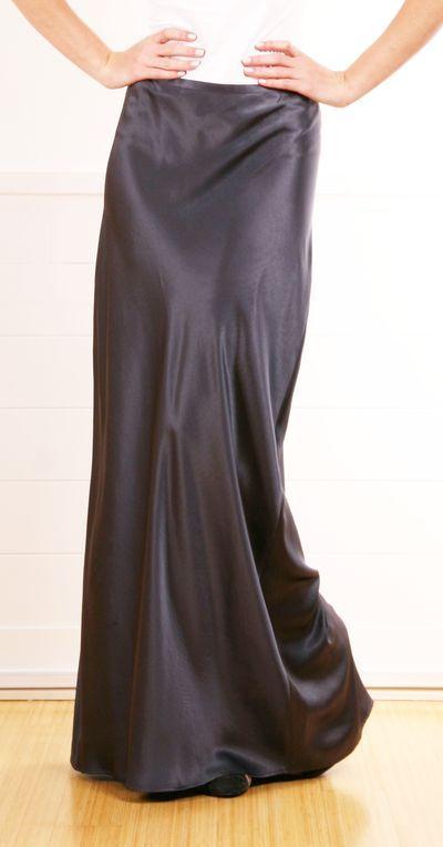 Satin Maxi Skirt Clothes Shoes Purses Skirt
