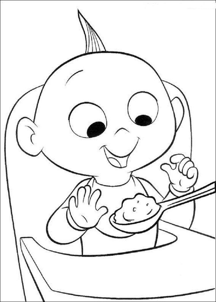 Incredibles Coloring Pages Free imagens) Desenhos