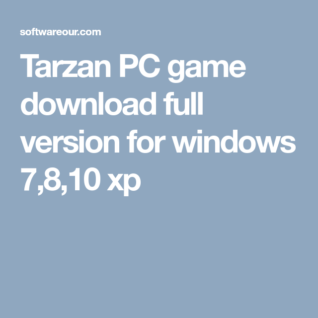 tarzan game download for windows 10