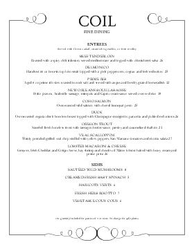 fine dining food menu restaurant graphics menu ideas pinterest