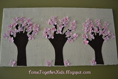 Handprint Trees Wrapped Canvas