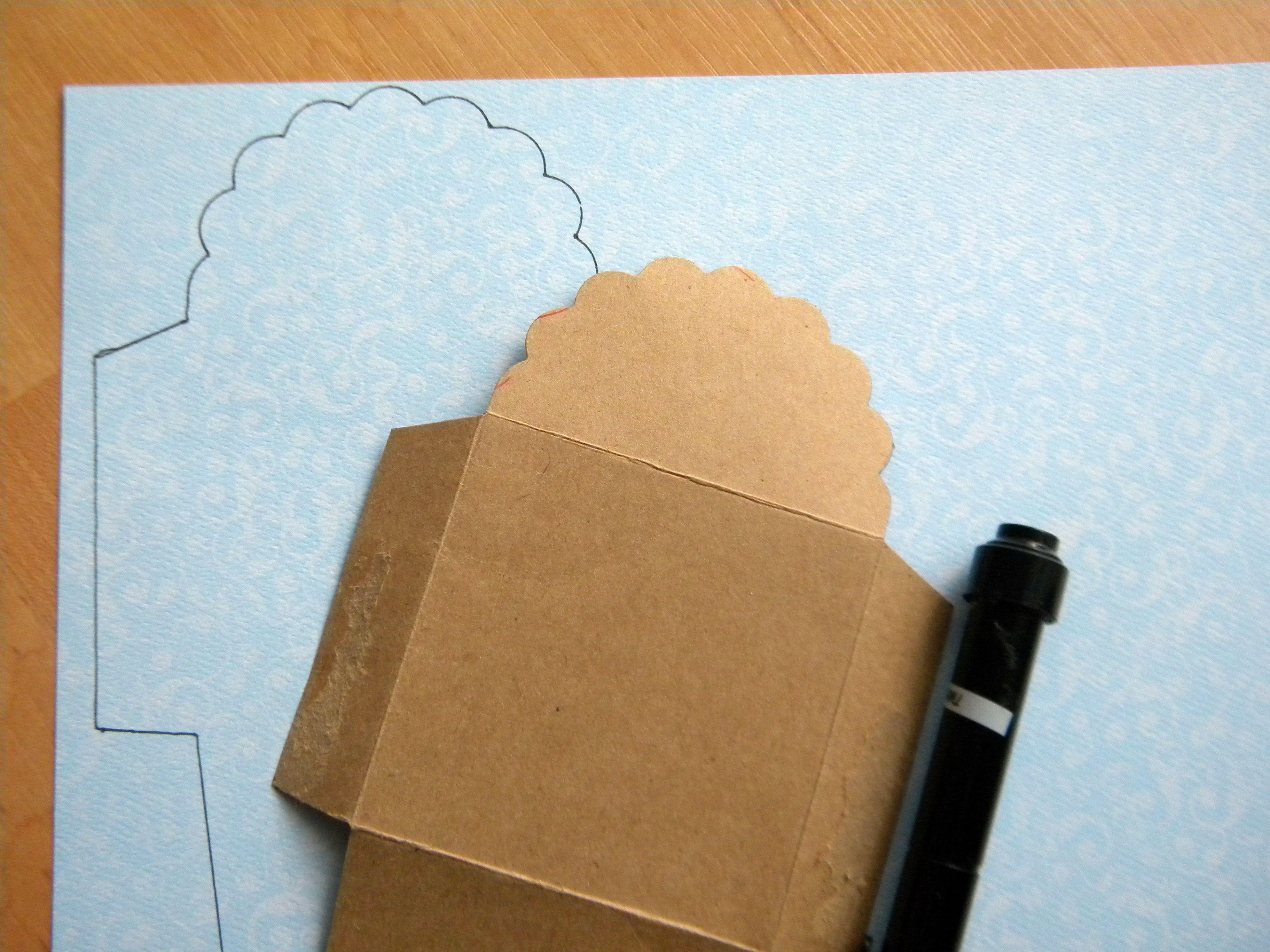 DIY Envelopes - with scalloped edge