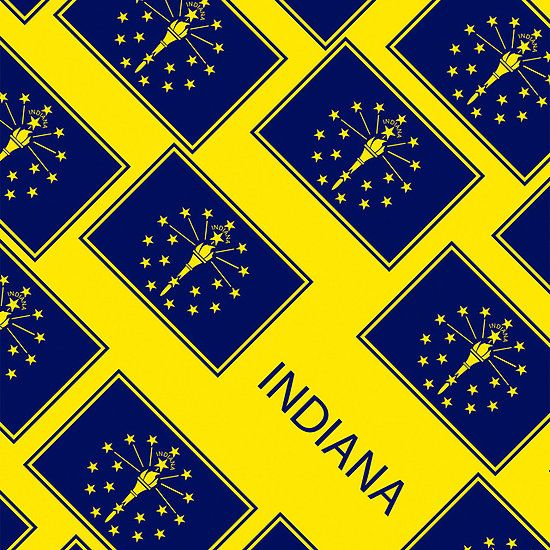 Smartphone Case - State Flag of Indiana - Patchwork Yellow Diagonal