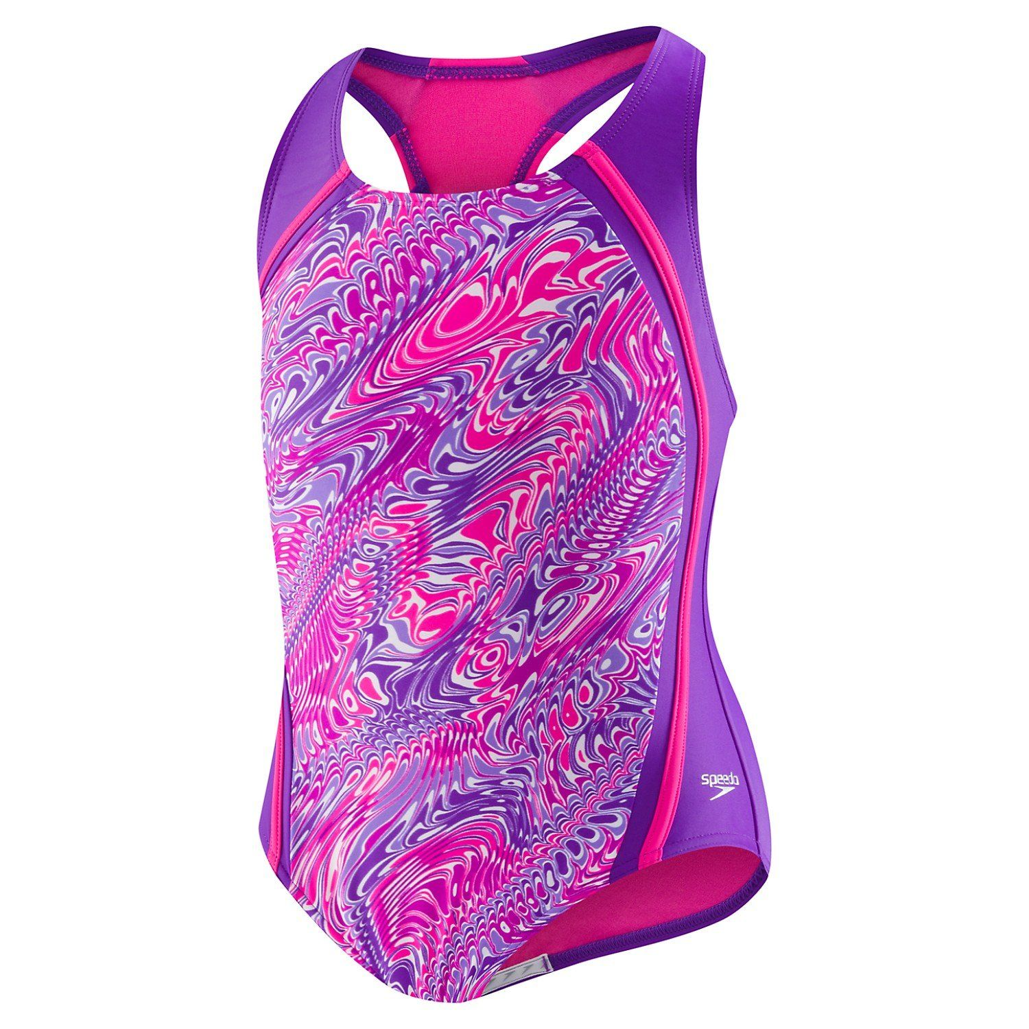 490a9f5f6bc3f Speedo Girls' Printed Sport Splice (7-16)- Purple | Kid's Swim Gear ...