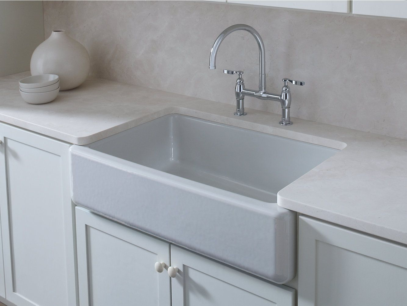 K 6489 Whitehaven Under Mount Single Bowl Farmhouse Kitchen Sink