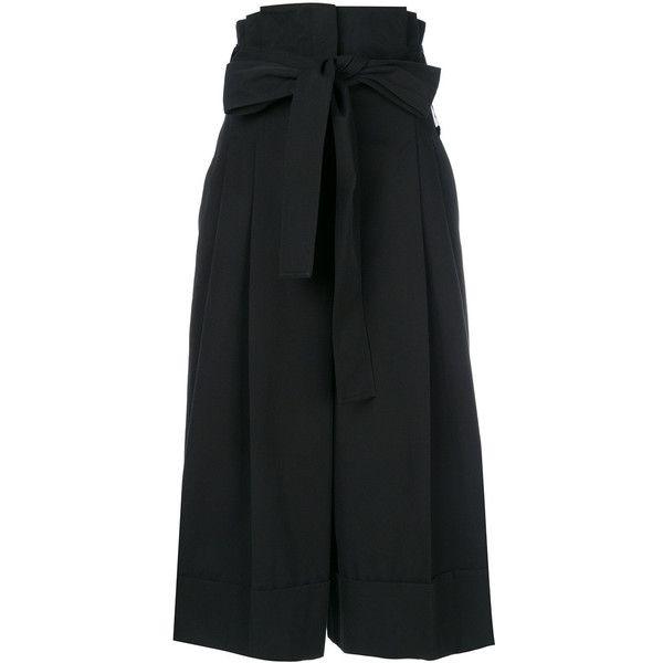 tie waist culottes - Black Alexander McQueen EmicDGFyr7