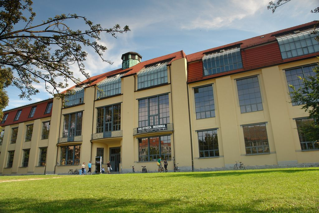 The main building of the BauhausUniversity Weimar (built