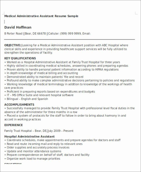 23 Medical Assistant Resume Objective Examples In 2020