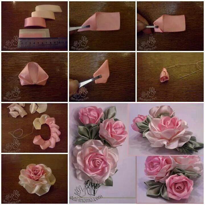 Rosas con cinta.
