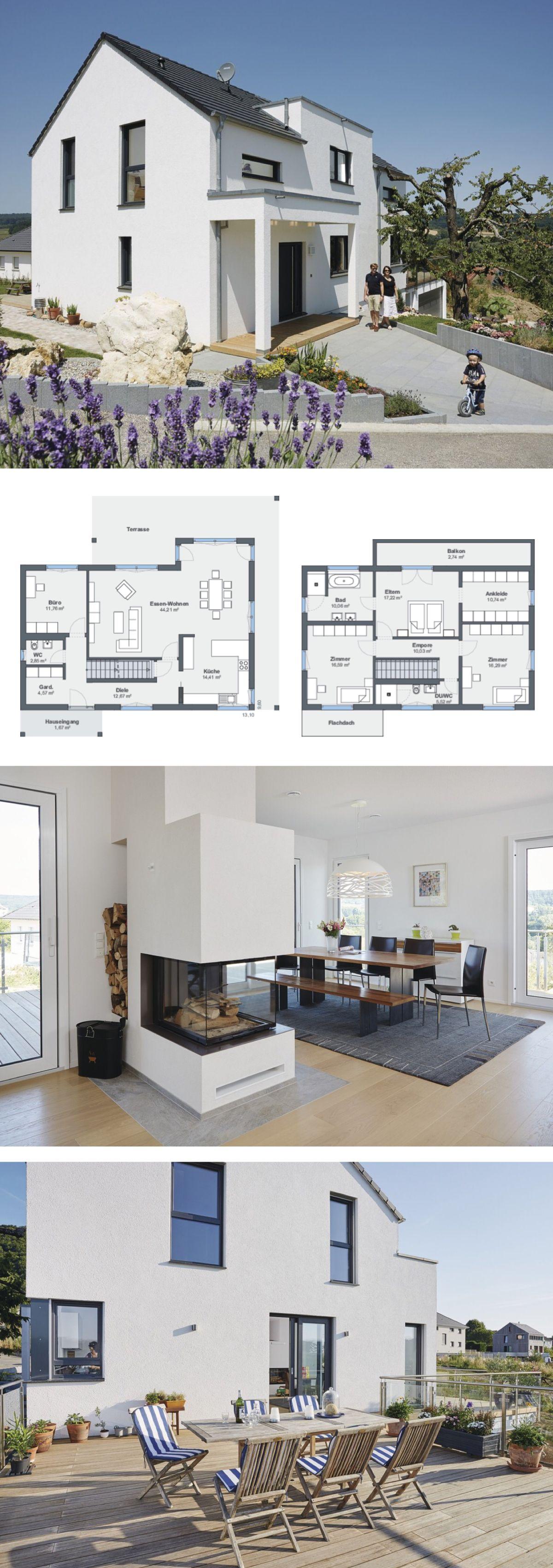 Modernes Haus mit Einliegerwohnung, Garage, Kamin & Satteldach ...