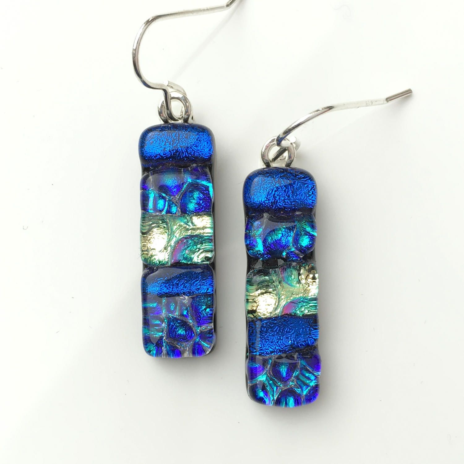 cool fire new totally earrings mary crafty glass blue double light