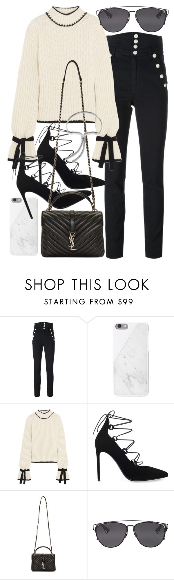 """""""Untitled #20629"""" by florencia95 ❤ liked on Polyvore featuring Isabel Marant, Native Union, J.W. Anderson, Yves Saint Laurent, Christian Dior and Monica Vinader"""