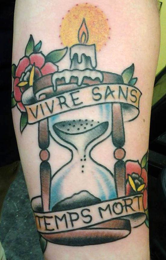 sand timer tattoo by jack gribble northeast tattoo minneapolis mn twin cities traditional. Black Bedroom Furniture Sets. Home Design Ideas