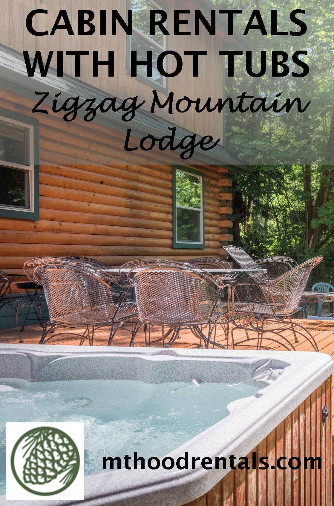 Zigzag Mountain Lodge is an inviting log home with