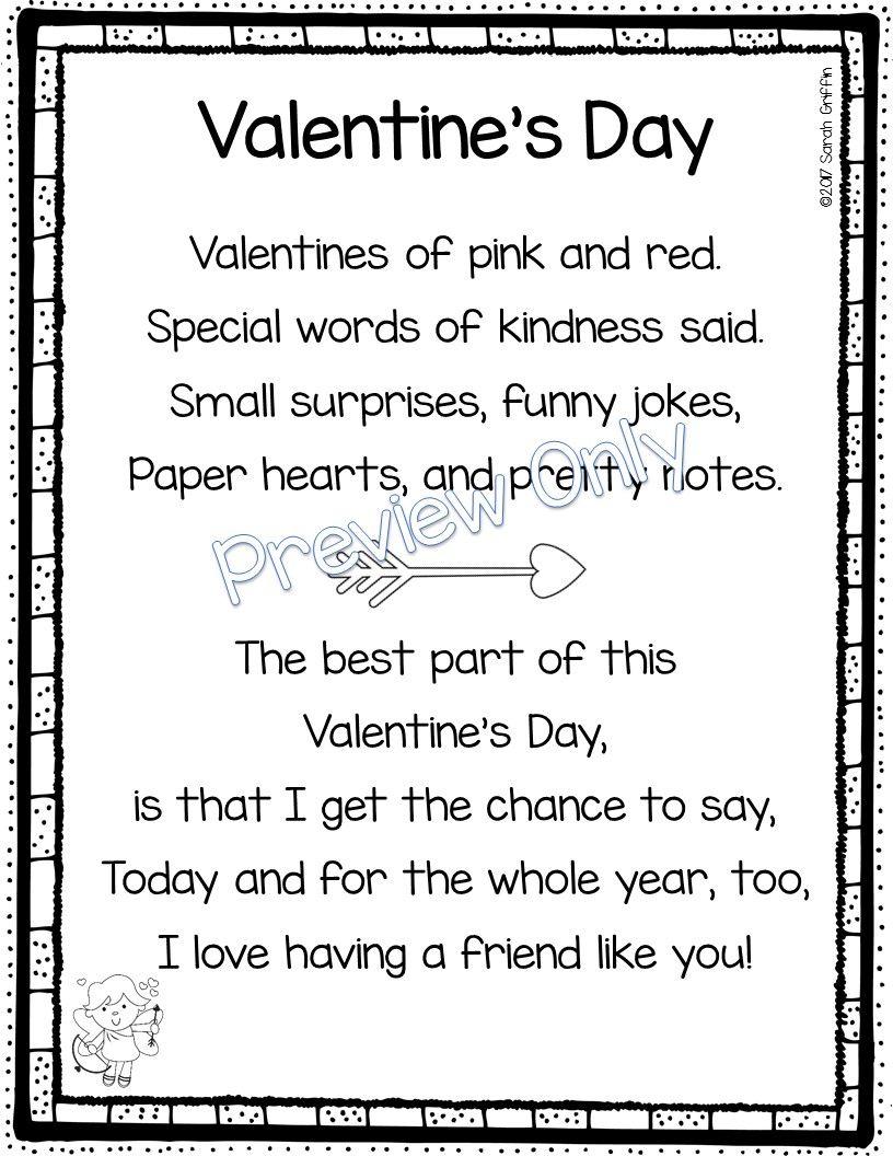 5 Valentine S Day Poems For Kids Valentines Day Poems Valentines Poems Kids Poems