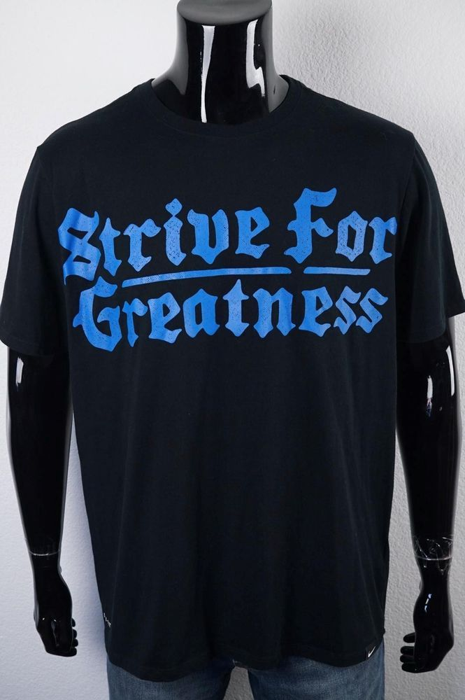 brand new 8f077 7e681 Nike  Lebron Dri Fit T Shirt Strive for Greatness Size XL Black Blue  Athletic Tee  Nike  GraphicTee
