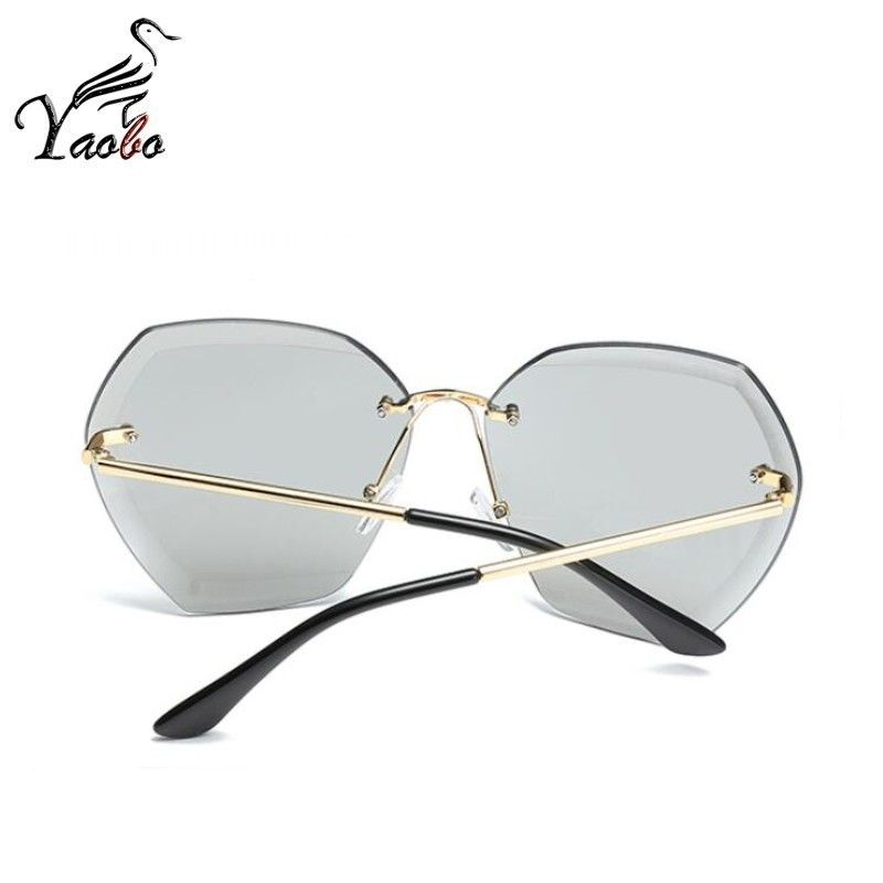 6155a17ed8 Aliexpress.com   Buy Luxury Vintage Rimless Sunglasses Women Brand Designer  Oversized Retro Female Sunglass Sun Glasses For Women Lady Sunglass 2018  from ...