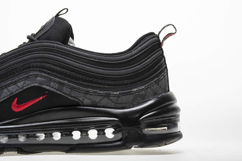 f868666daaf4 Nike Air Max 97 Reflective Logo All Black And Red 97s Sale AR4259-001 -