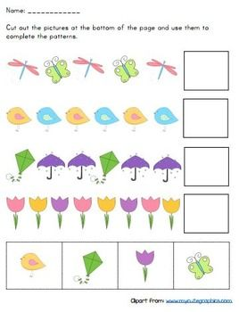 cut and paste pattern worksheets kindergarten kiddos pattern worksheet worksheets cut paste. Black Bedroom Furniture Sets. Home Design Ideas