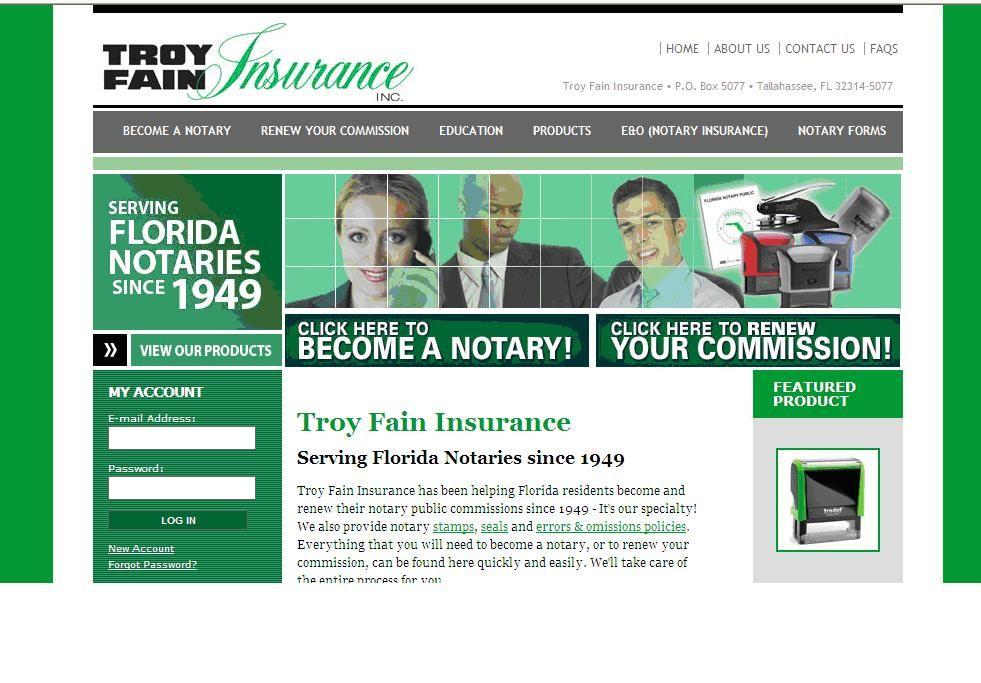 Troy Fain Insurance Helping Florida Notaries Since 1949 Florida
