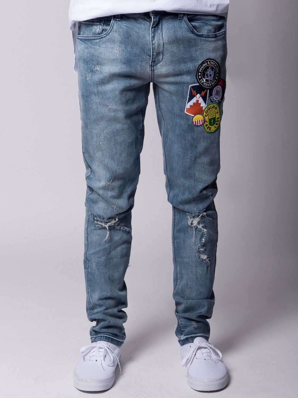 Young And Reckless Mens Bottoms Denim Emery Jeans Indigo Mens Denim Mens Bottom Denim