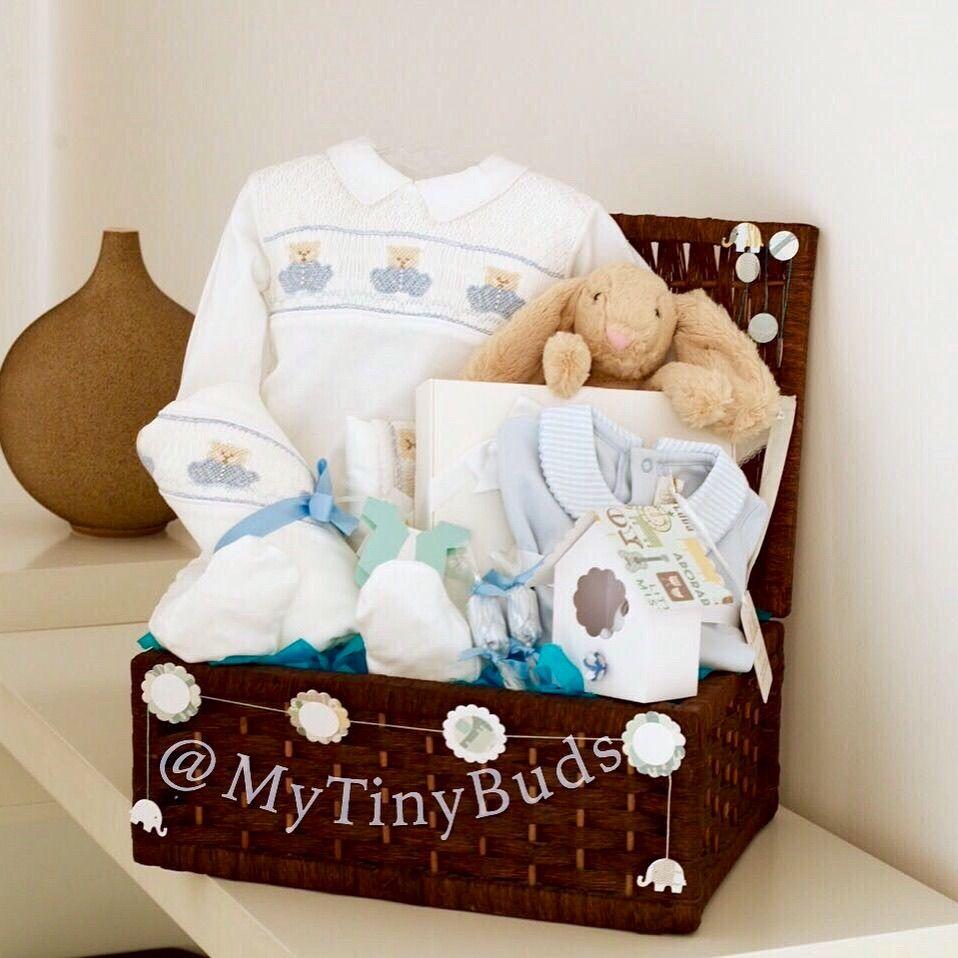 Luxury Baby Boy Gift Basket هدية مولود من قطن البيما المشغول باليد Gift Bags Diy Baby Gift Basket Baby Gifts