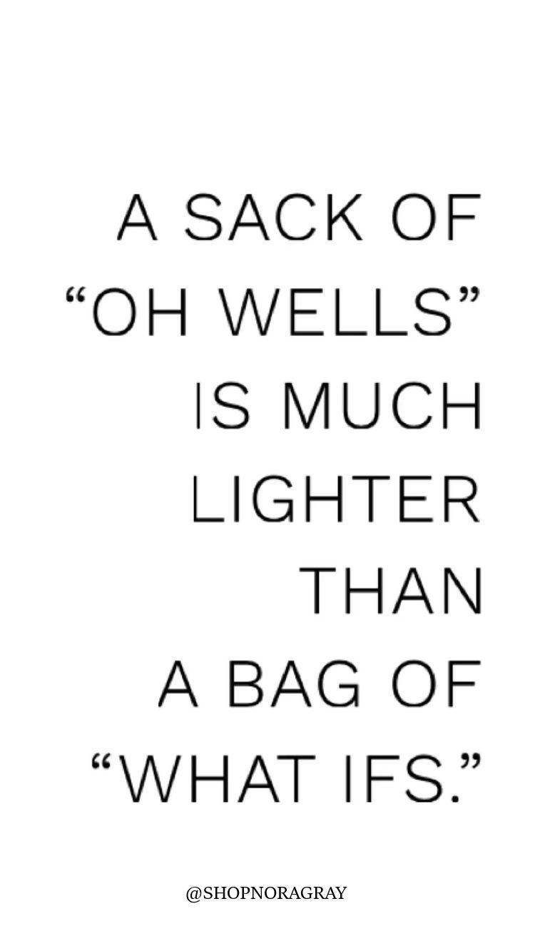 A Sack of Oh Wells