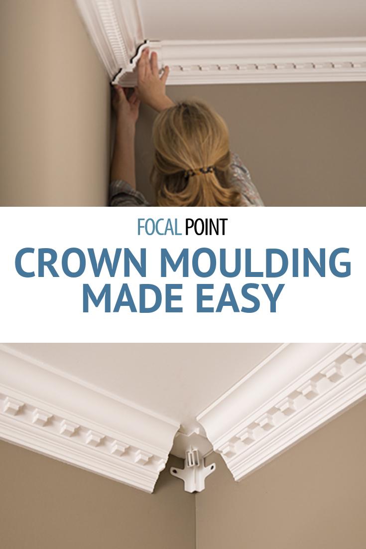 Diy Foam Crown Molding System Focal Point Products Foam Crown Molding Crown Molding Diy Crown Molding