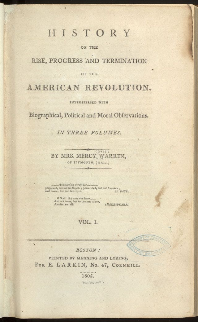 Historian of the American Revolution Mercy Otis Warren (1728-1814 - george washington resume