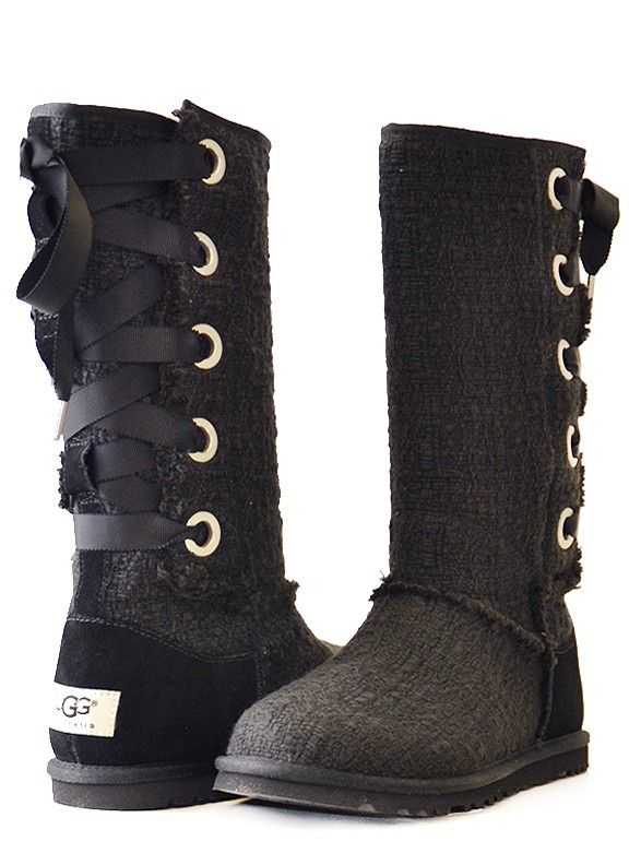 99f191159f8 france ugg tall boots lace up 0166c 57692