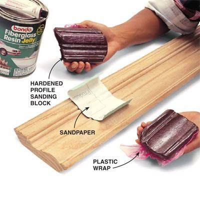 The Family Handyman SANDING BLOCK DIY Tip of the Day  Intricate