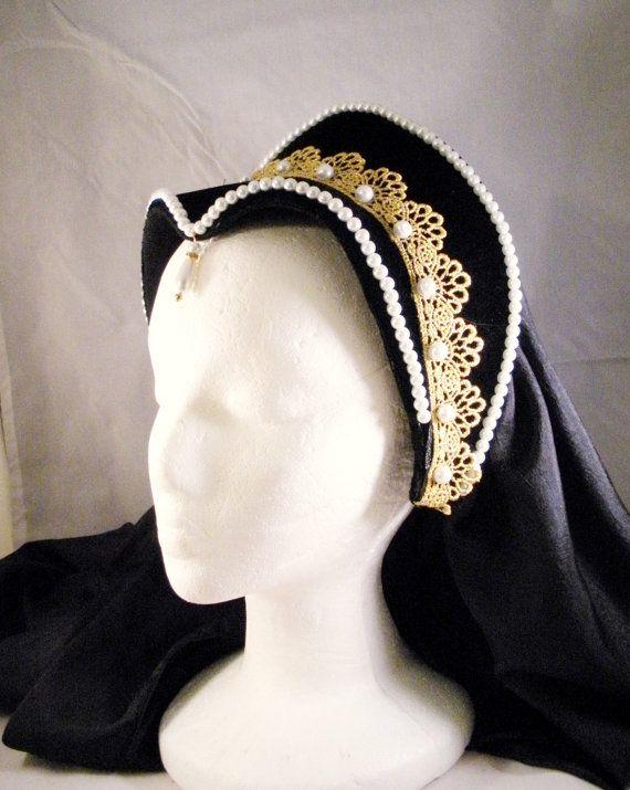 Renaissance French Hood, Tudor Headpiece, Anne Boleyn