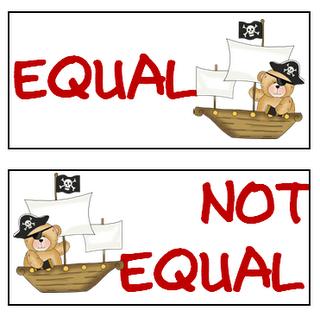 Equal Not Equal Game Math Work Stations Math Camp Math Classroom