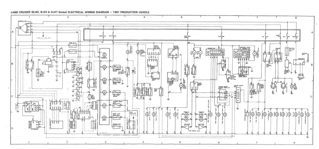 bj40 series wiringdiagram  100 series landcruiser fj40