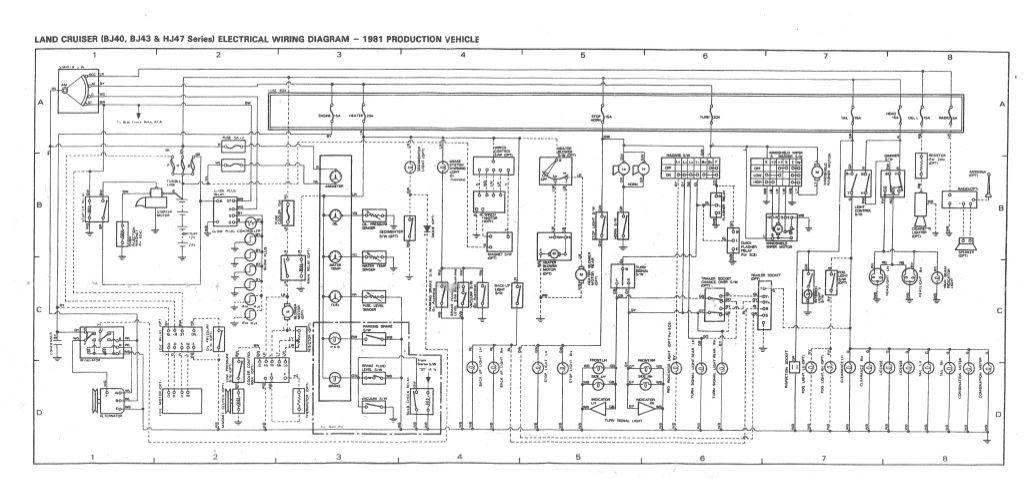bj40 series wiringdiagram  100 series landcruiser fj40