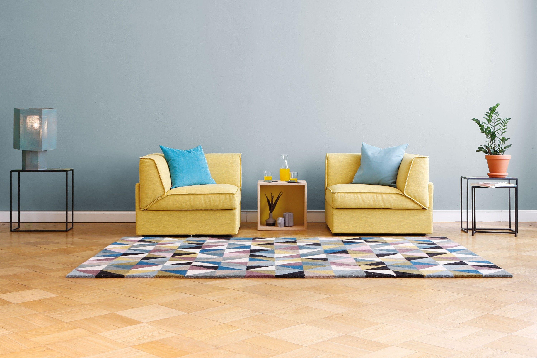 Soggiorno Oslo ~ Design modul sofa fila in hellgrau sitzfeldt soggiorno