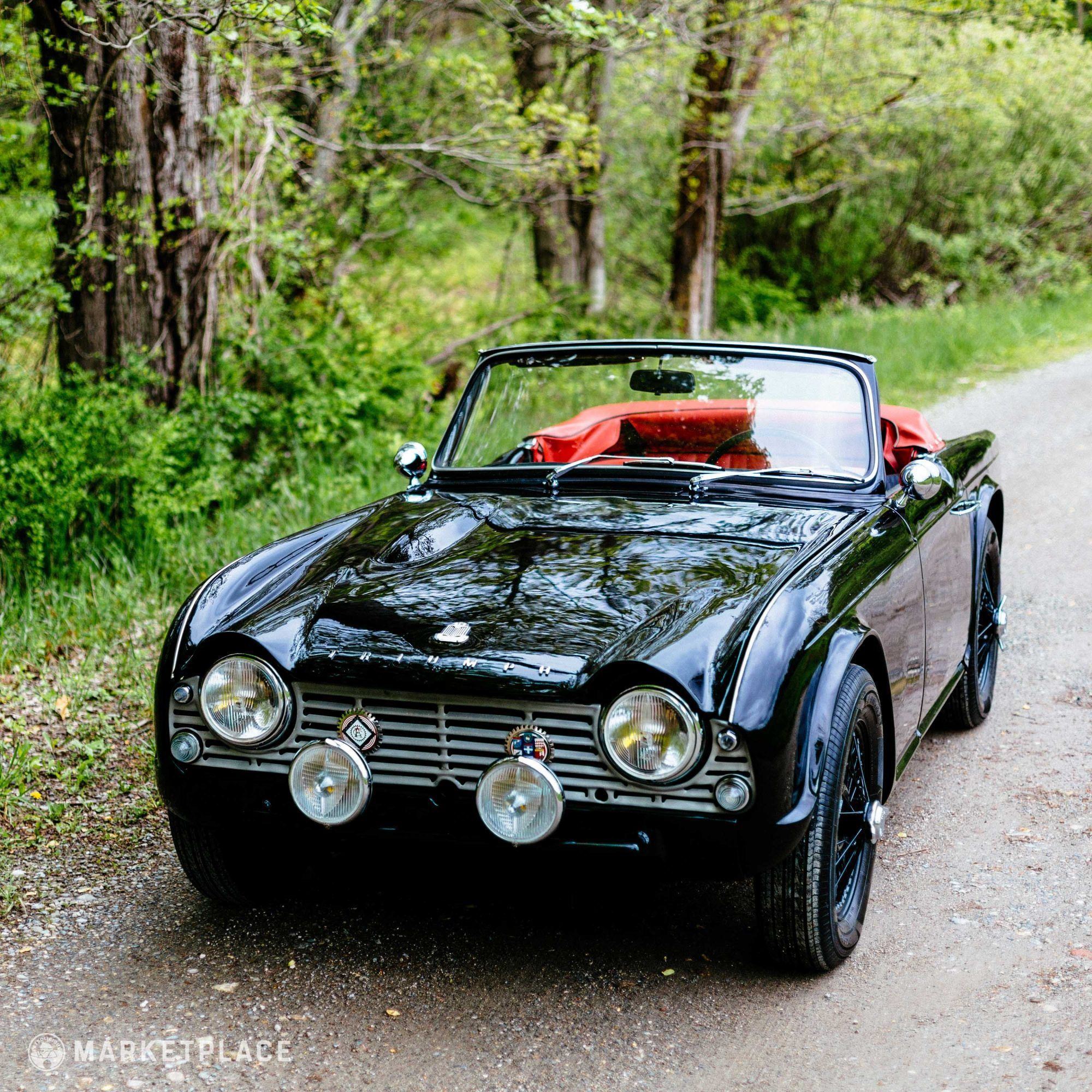 1961 Triumph TR4 w/ Engine Audio Clips Classic car show