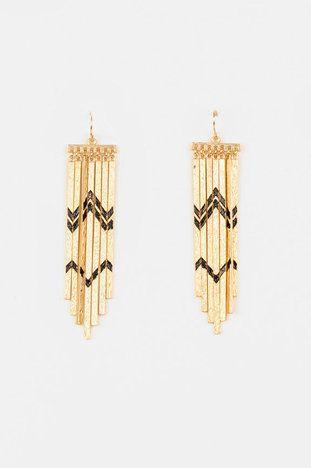 Broken Arrow Earrings in Gold $16 at www.tobi.com