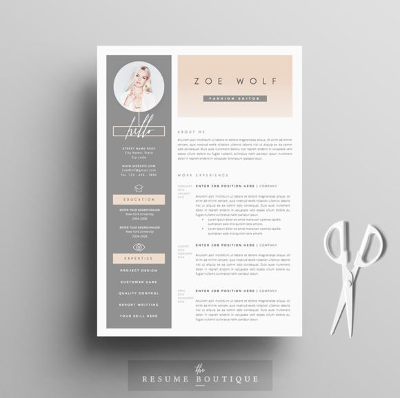 Free Modern Resume Templates Professional Resume Template  Cover Letter For Ms Word  Modern